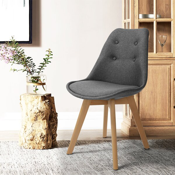 Flinchum Upholstered Dining Chair (Set of 2) by George Oliver