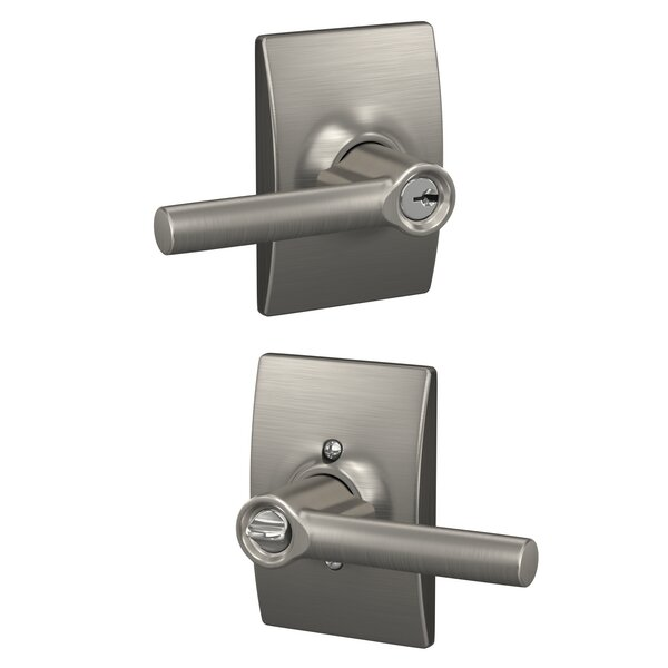 Broadway Lever with Century Trim Keyed Entry Lock