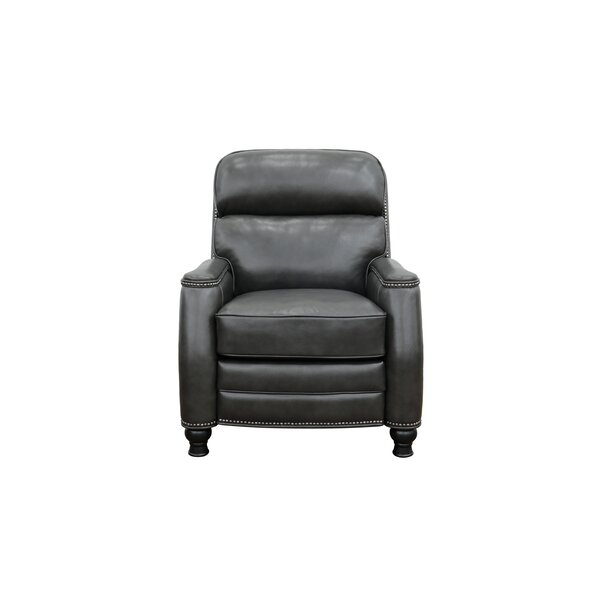 Wilberforce Leather Power Recliner by Canora Grey Canora Grey