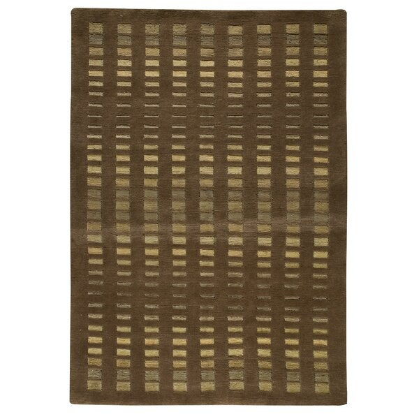 Skyline Hand-Knotted Brown Area Rug by Hokku Designs