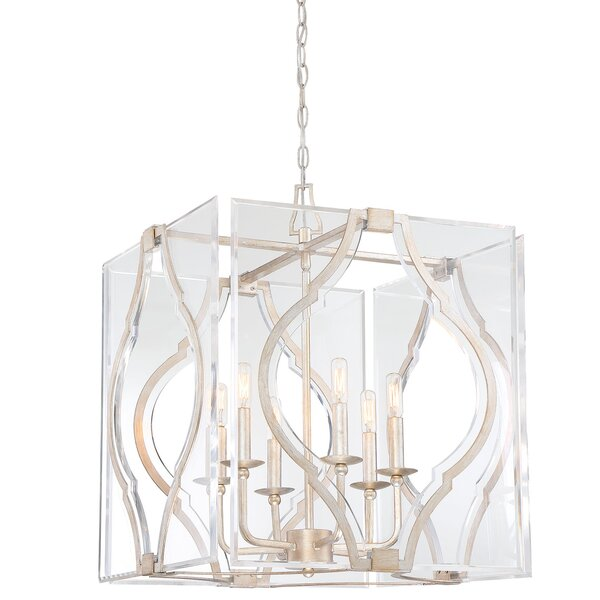 Brenton Cove 6-Light Candle Style Rectangle / Square Chandelier by Metropolitan by Minka Metropolitan by Minka