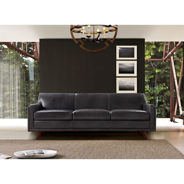Chic Ari Genuine Leather Modern Leather Sofa by Corrigan Studio by Corrigan Studio
