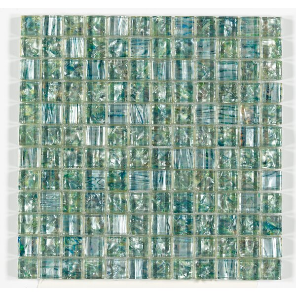 Accent Statements 12 x 12 Glass Mosaic Tile in Emerald Mist by Mohawk Flooring