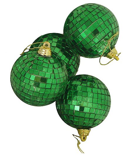 Mirrored Glass Disco Ball Christmas Ornament (Set of 4) by Northlight Seasonal