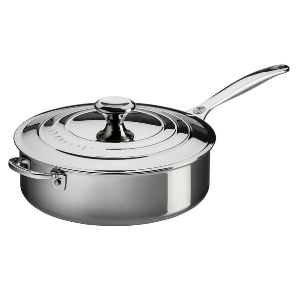 Stainless Steel Sauté Pan with Lid by Le Creuset