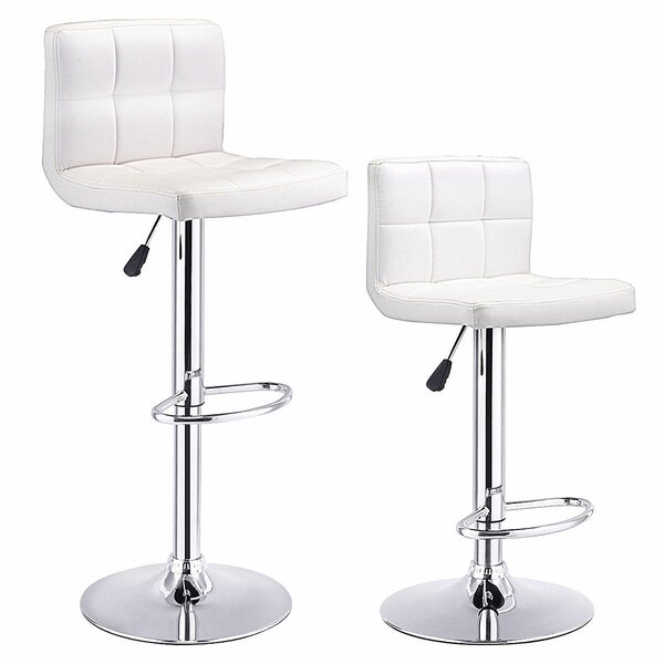 Collard Adjustable Height Swivel Bar Stool (Set of 2) by Orren Ellis
