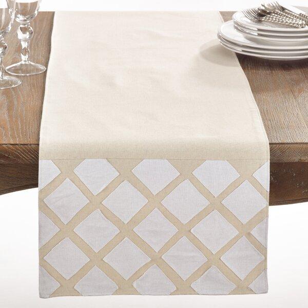 Paros Applique Cotton Table Runner by Saro