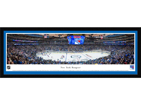 NHL New York Rangers - Center Ice by James Blakeway Framed Photographic Print by Blakeway Worldwide Panoramas, Inc