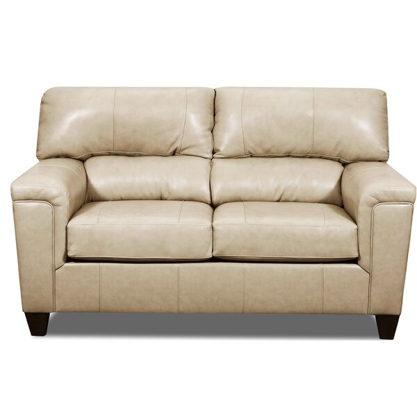 Review Shamir Leather Loveseat