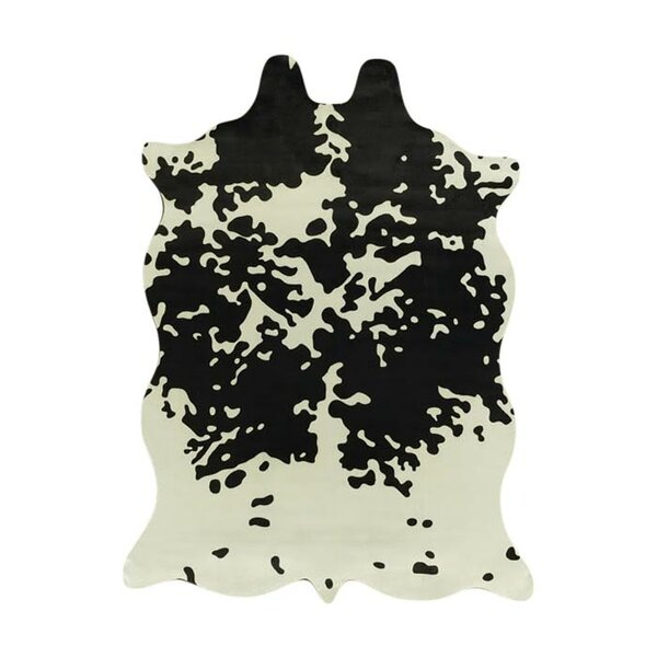 Chanler White/Black Area Rug by Bloomsbury Market