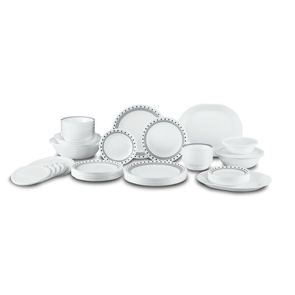 City Block Living Ware 74 Piece Dinnerware Set, Service for 12 by Corelle