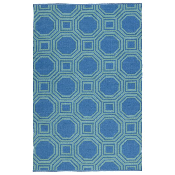 Littleton Green/Blue Indoor/Outdoor Area Rug by Wrought Studio