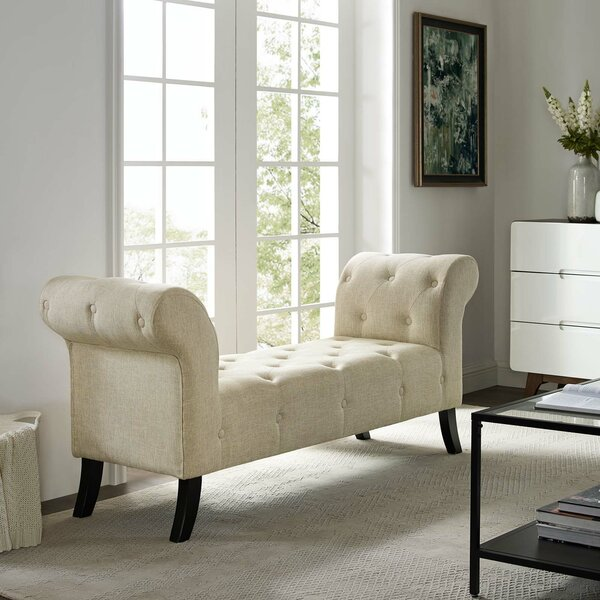 Conneaut Upholstered Bench by Alcott Hill