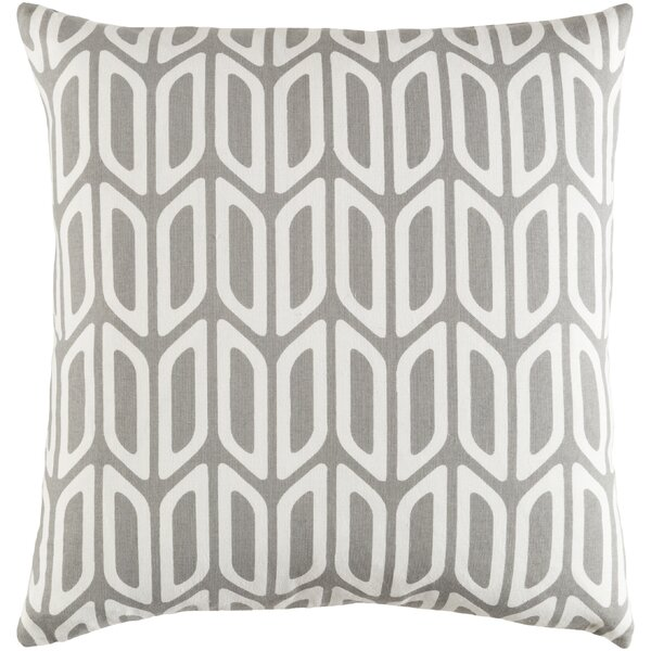 Arsdale Contemporary Square Cotton Throw Pillow by Langley Street