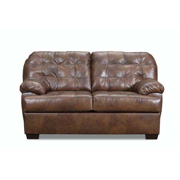 Best Askerby Leather Loveseat