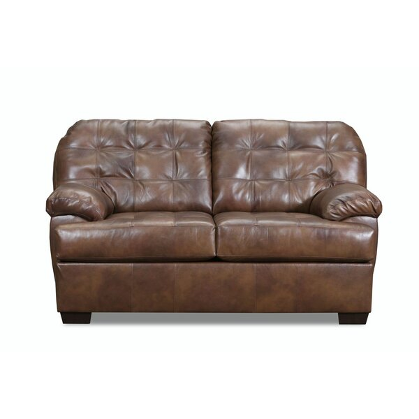 On Sale Askerby Leather Loveseat