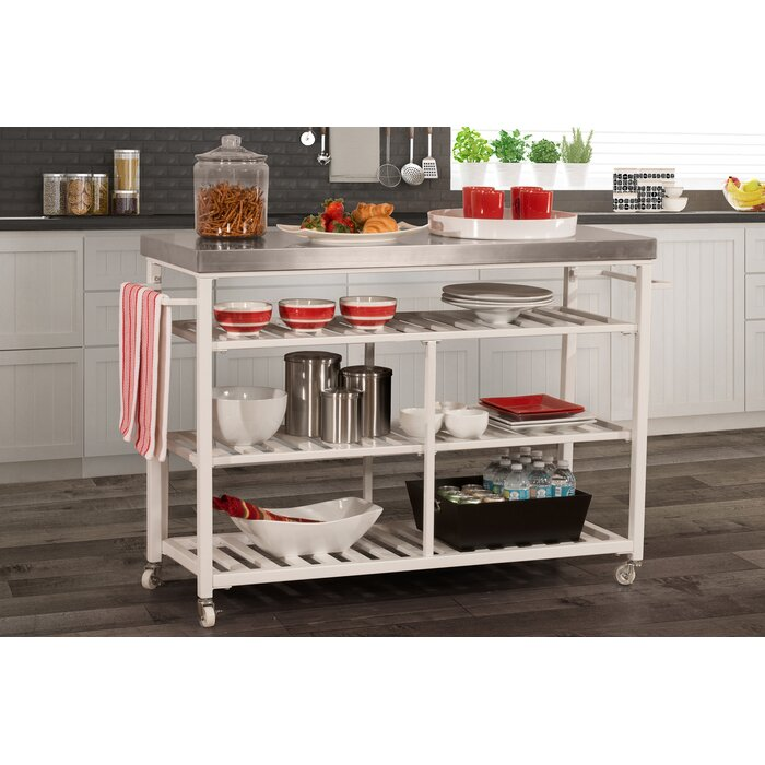 Droitwich Kitchen Island with Stainless Steel Top