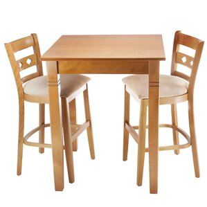 Duno 3 Piece Counter Height Pub Table Set by Benkel Seating