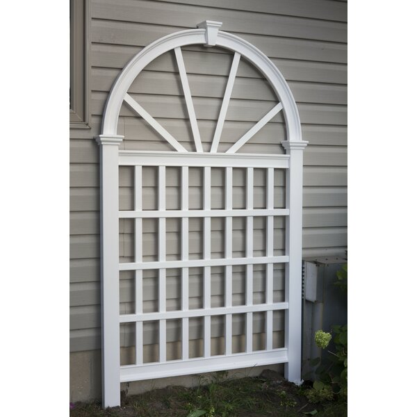 Eden Vienna Vinyl Arched Lattice Panel Trellis by New England Arbors