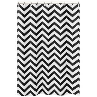 Chevron Microfiber Single Shower Curtain