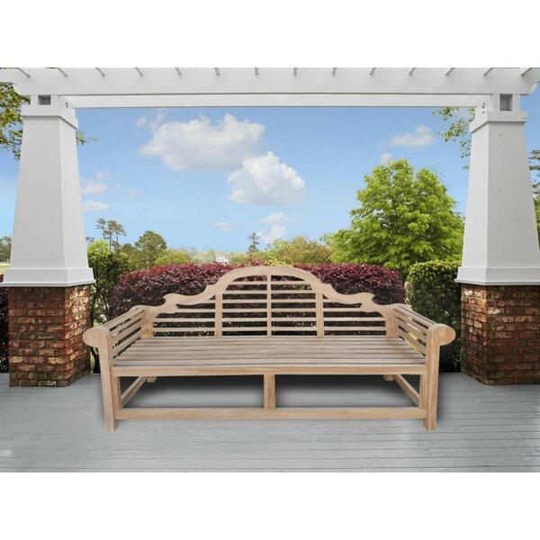 Gemma Teak Garden Bench by Rosecliff Heights