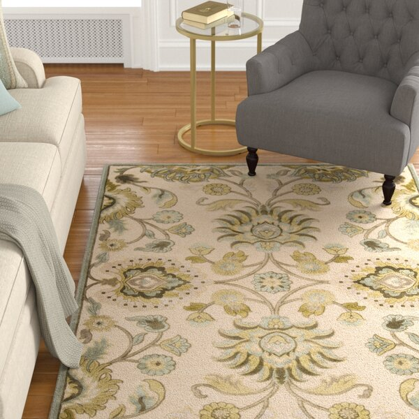 Cashwell Oriental Beige/Carolina Blue Area Rug by Alcott Hill