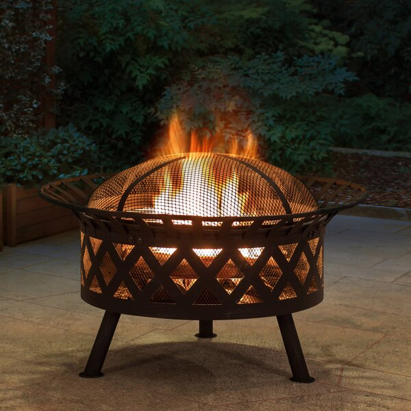 Cast Iron/Steel Wood Burning Fire Pit by Sunjoy