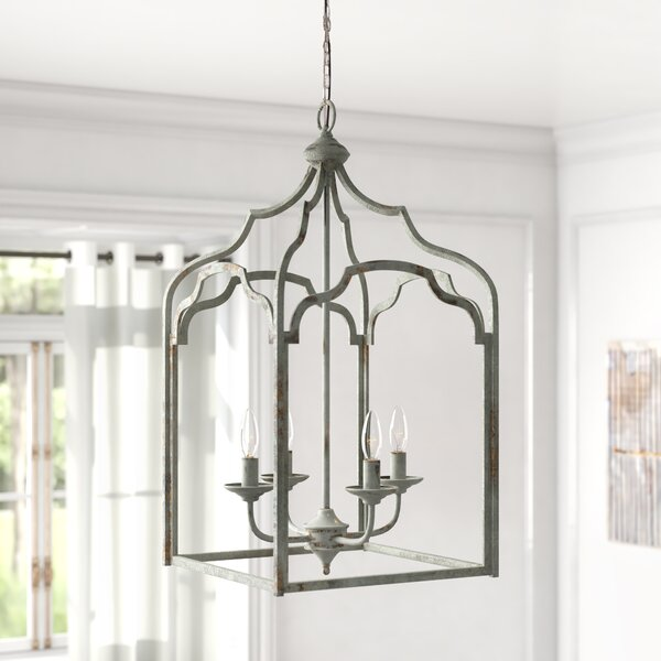 Melody 4 - Light Lantern Rectangle Chandelier by Kelly Clarkson Home Kelly Clarkson Home
