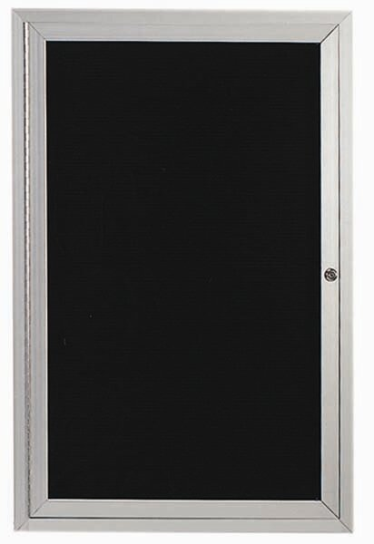 Directory Cabinet Enclosed Wall Mounted Bulletin Board by AARCO