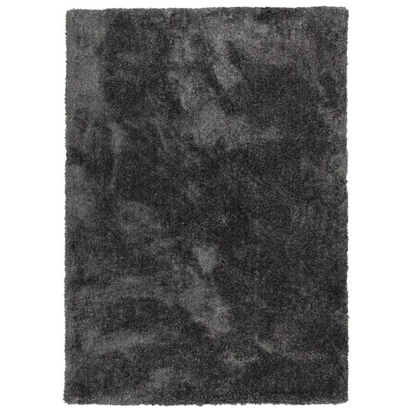 Bieber Handmade Shag Charcoal Area Rug by Ebern Designs
