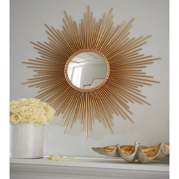 Duddleston SunBurst Round Accent Mirror by Everly Quinn