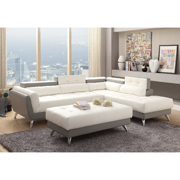 Bache Right Hand Facing Sectional with Ottoman by Orren Ellis