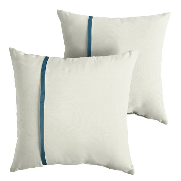 Forand Indoor/Outdoor Sunbrella Throw Pillow (Set of 2) by Charlton Home
