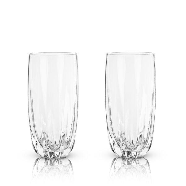 Raye Cactus 16 oz. Crystal Highball Glasses (Set of 2) by Viski