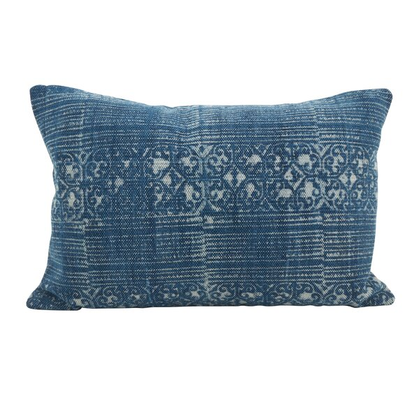 Rupert Distressed Down Filled Lumbar Pillow by Bungalow Rose