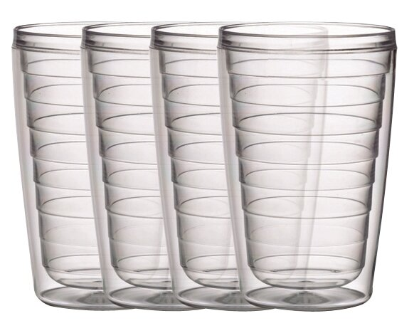 16 oz. Plastic Every Day Glass (Set of 4) by Boston Warehouse Trading Corp