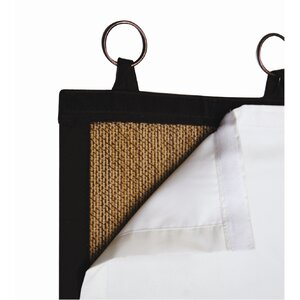 Bencomo Insulated Solid Blackout Thermal Tab top Single Curtain Panel