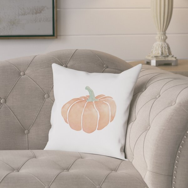 Piner Harvest Pumpkin Cotton Throw Pillow by August Grove