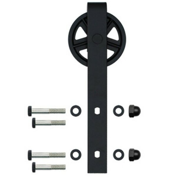 Spoke Wheel Hook Strap Barn Door Hardware by Custom Service Hardware