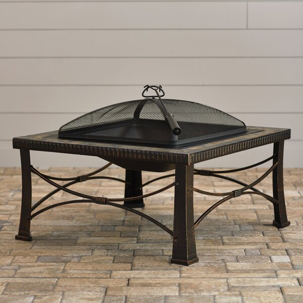 Gadsden Steel Wood Burning Fire Pit by Charlton Home
