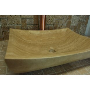 Compare prices Zen Deep Stone Rectangular Vessel Bathroom Sink By Eden Bath