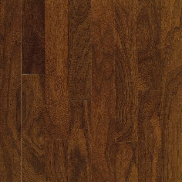 Turlington 5 Engineered Walnut Hardwood Flooring in Low Glossy Autumn Brown by Bruce Flooring
