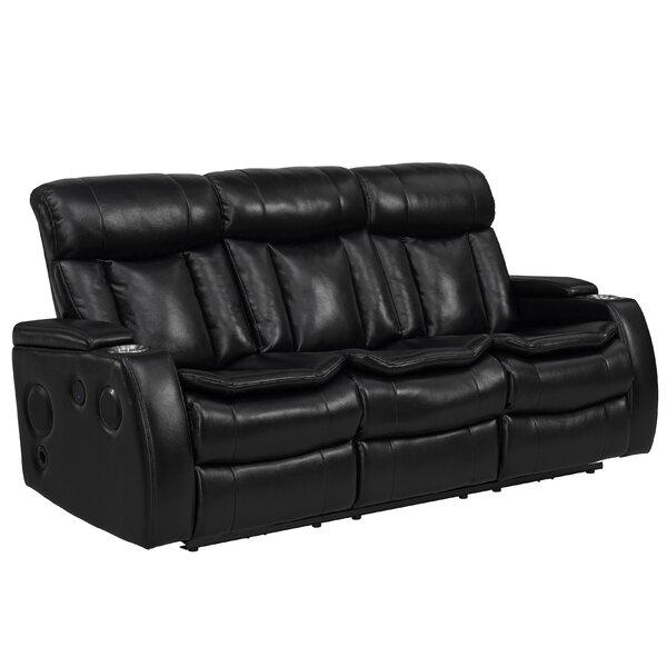 Wysocki Smart Tech Bluetooth Power Reclining Sofa by Red Barrel Studio