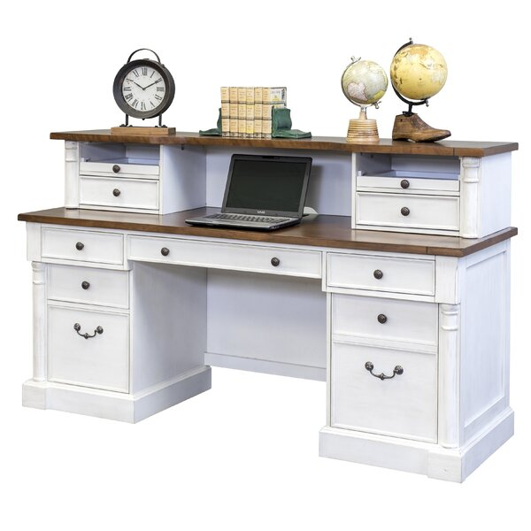 Chmura Executive Desk With Low Hutch by August GroveChmura Executive Desk With Low Hutch by August Grove
