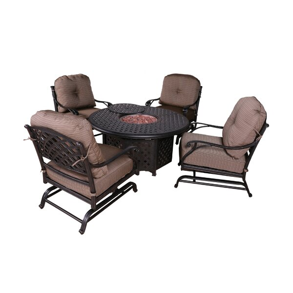 Kempf 5 Piece Firepit Set with Cushions by Darby Home Co
