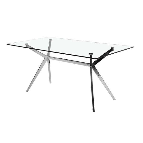 Abeale Rectangle Modern Dining Table by Orren Ellis