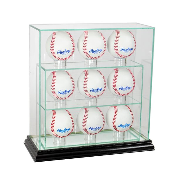 Nine Upright Baseball Display Case by Perfect Cases and Frames