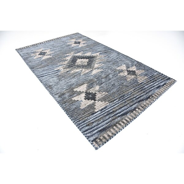 Bhakta Gray/Beige/Light Blue Area Rug by World Menagerie
