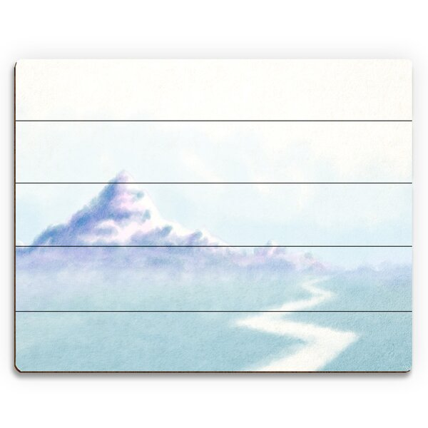 Mountain Road Wall Art on Plaque by Click Wall Art