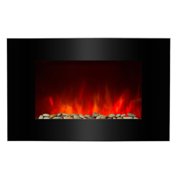 Piano Black Wall Mounted Electric Fireplace by AKD